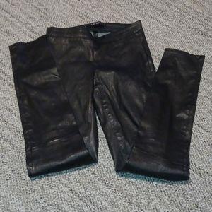 J Brand lamb leather leggings